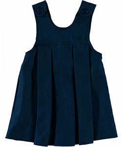 Little Girls' Button-Shoulder Jumper in Navy