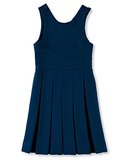 "Big Girls' ""Brenda"" Pleated Jumper in Navy"