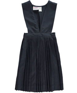 Big Girls' 3-Pleat V-Neck Jumper in Navy - $19.99