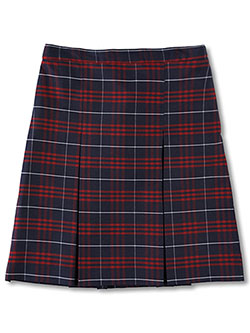 Girls' 134 Box Pleated Skirt in black, gray, plaid #79 and more