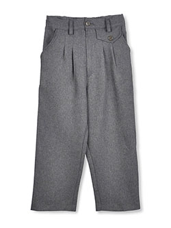 Little Girls' Pleated Pants in Gray