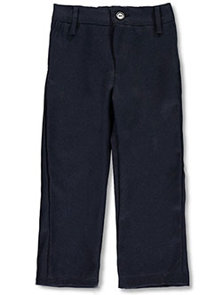 Girls' Flat Front Pants in Navy