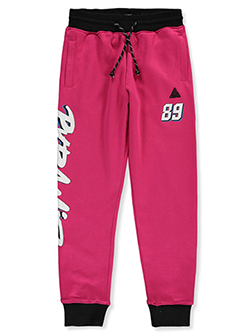 Boys' 89 Logo French Terry Joggers by Black Pyramid in Pink, Boys Fashion