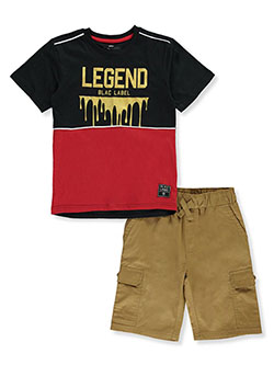 Blac Label Boys Drip 2-Piece Shorts Set Outfit