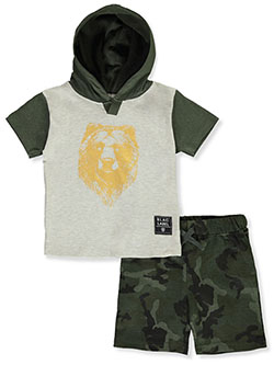 Camo 2-Piece Shorts Set Outfit by Blac Label in Oatmeal, Infants