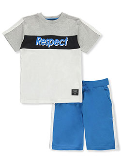 Boys' Respect 2-Piece Shorts Set Outfit by Blac Label in Black