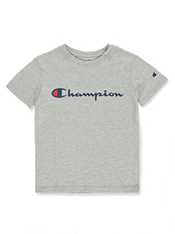 Boys' Classic Logo T-Shirt by Champion in ocford, spicy orange and white