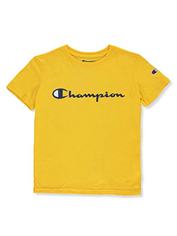 Boys' Classic Logo T-Shirt by Champion in gold, ocford and spicy orange