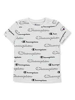Boys' Logo Print T-Shirt by Champion in White