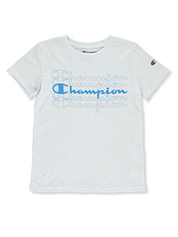 Boys' Echo Logo Graphic T-Shirt by Champion in White