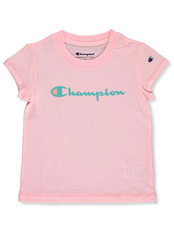 Girls' Pink T-shirt by Champion in Pink