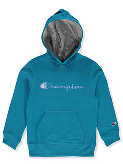 Boys' Classic Logo Hoodie by Champion in Teal