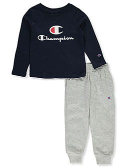 Double Logo 2-Piece Sweatsuit Outfit by Champion in Multi