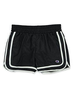 Girls' Varsity Shorts by Champion in black and navy