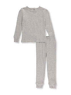 2-Piece Thermal Long Underwear Set by Ice2O in black, heather gray and off white