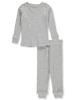2-Piece Thermal Long Underwear Set by Ice2O in black, heather charcoal, heather gray and off white