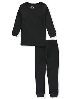 Ribbed 2-Piece Thermal Long Underwear Set by Jordache in black, ecru, heather charcoal and navy, Boys Fashion