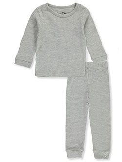 Waffle 2-Piece Thermal Long Underwear Set by Jordache in heather gray, hot pink, white and more, Infants