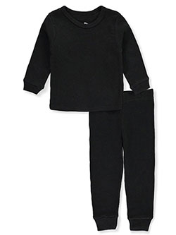 Ribbed 2-Piece Thermal Long Underwear Set by Jordache in black, ecru, heather charcoal and navy, Infants