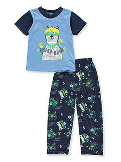 Baby Boys' Super Bear 2-Piece Pajamas by Ocean Baby in blue/multi, green/multi, royal/multi and more