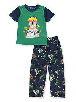 Baby Boys' Super Bear 2-Piece Pajamas by Ocean Baby in green/multi, orange/multi and red/multi