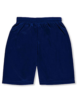 Mesh Unisex Athletic Shorts by Badger in navy, royal blue and silver