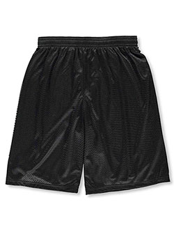 Men's Mesh Athletic Shorts by Badger in black, navy and silver