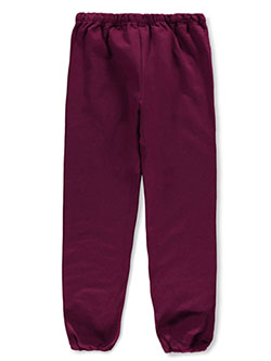 Basic Fleece Sweatpants by Jerzees in Burgundy, School Uniforms