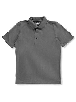 Youth Unisex Polo by Gildan in black, charcoal gray and navy