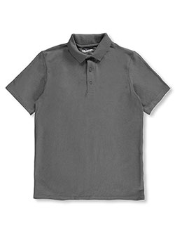 Adult Unisex S/S Pique Polo by Gildan in charcoal gray, navy and white - $13.99