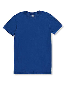 Men's Basic Crewneck T-Shirt by Anvil in Neon blue, Sizes 2T-4T & 4-7