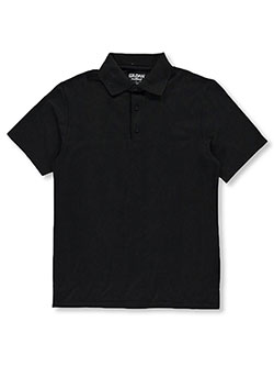 Adult Unisex S/S Pique Polo by Gildan in Black - $15.99