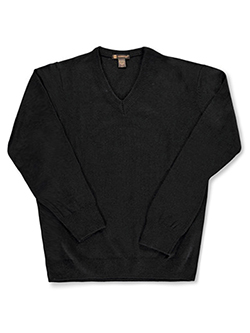 Men's V-Neck Sweater by Harriton in black and navy