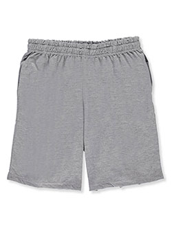 Adult Boys' Shorts by Gildan in Gray, School Uniforms