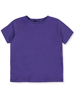 Girls' Basic Crewneck Gym T-Shirt by Rabbit Skins in Purple