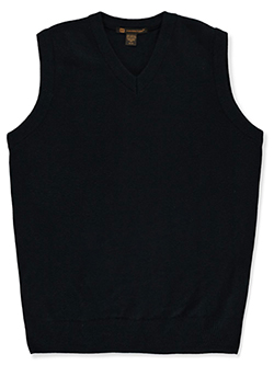 Adult Size Unisex V-Neck Sweater Vest by Harriton in Navy