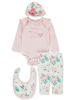 Bloom 4-Piece Layette Set by Catherine Malandrino in Multi