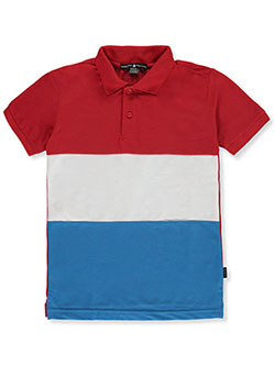 S/S Contrast Pique Polo by Beverly Hills Polo Club in Red