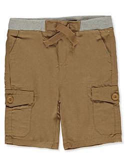 Pull-On Cargo Shorts by Beverly Hills Polo Club in Khaki