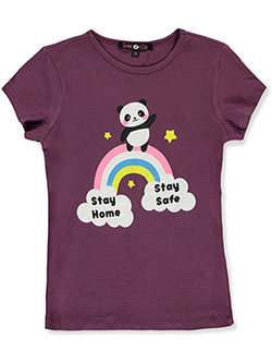 Girls' Stay Home Graphic T-Shirt by Sweet Kiss in Multi