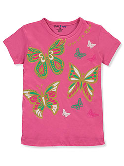 Girls' Butterfly T-Shirt by Just 2 Cute in Multi