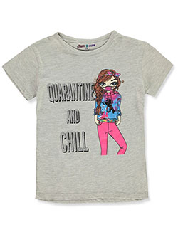 Girls' Quarantine Chill T-Shirt by Just 2 Cute in Multi