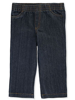 Baby Boys' Denim Pants by Famous Brand in dark blue and denim blue