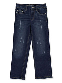 Boys' Wrinkle-Wear Jeans by Briara in dark denim, light denim and medium denim