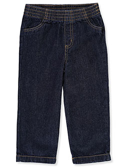 Pull-On Denim Jeans by Briara in dark denim and medium denim