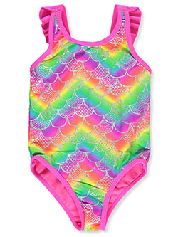 Rainbow Scales 1-Piece Swimsuit by Breaking Waves in Multi