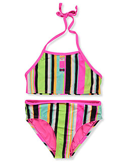 Stripe Halter 2-Piece Tankini Swimsuit by Breaking Waves in Multi