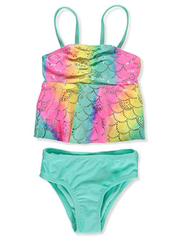 Girls' Scales 2-Piece Swimsuit by Breaking Waves in Multi