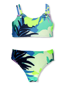 ' Tropical Palm 2-Piece Swimsuit by Breaking Waves in Multi