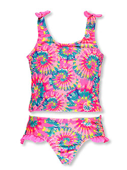 Girls' Tie-Dye 2-Piece Tankini by Breaking Waves in Multi